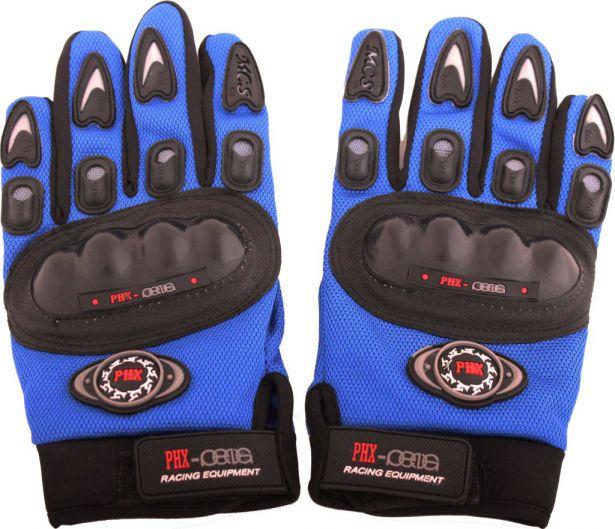 PHX Gloves Motocross, Adult MCS Race Edition (Blue, X-Large)