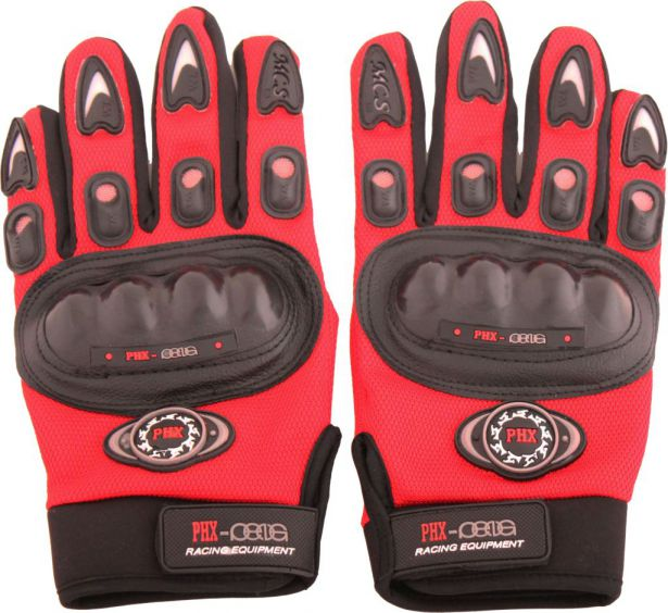 PHX Gloves Motocross, Adult MCS Race Edition (Red, Large)