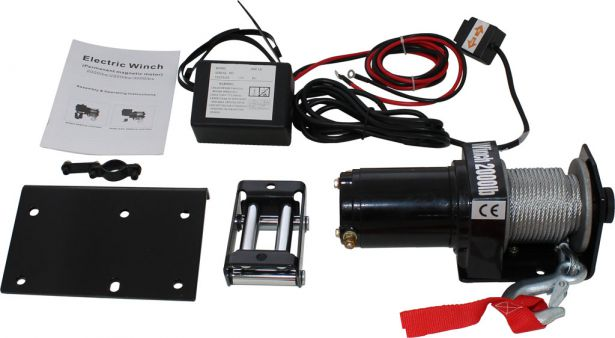 Winch - MNPS 2000 lb 12 Volt (820W / 1.1HP) Cabled Switch