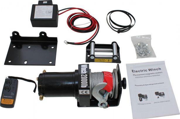 Winch - MNPS 2000 lb 12 Volt (700W / 1HP) Wireless Remote (VM brand)