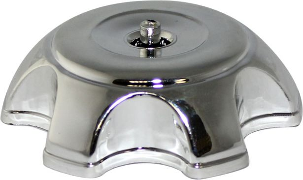 Fuel Tank Cap - Plastic, Chrome