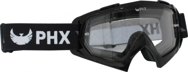 PHX GPro Series Adult Goggles - CX Race Edition - Gloss Black