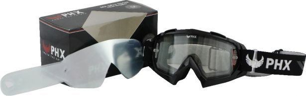 PHX GPro Series Adult Goggles - CX Race Edition - Gloss Black + Tear Off Pack (10pc)