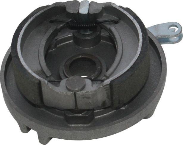 Brake Hub - Drum Brake Backing Plate  & Brake Shoes, Left Side