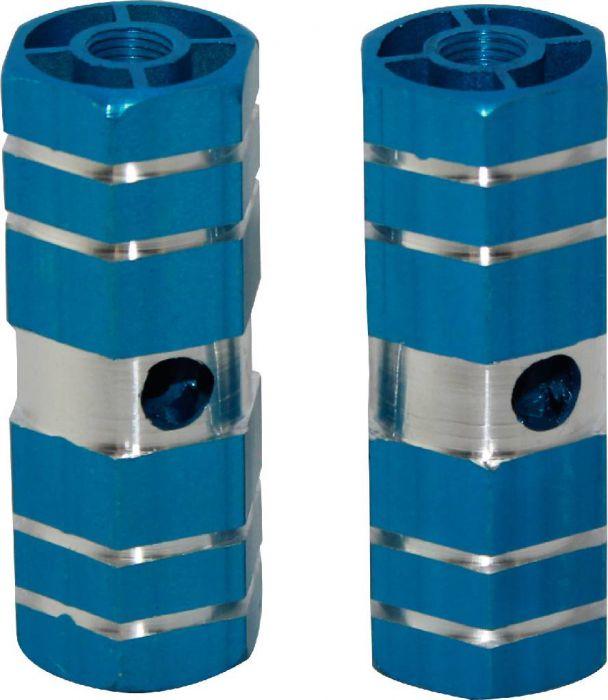 Foot Pegs - Dirt Bike, Blue, CNC Machined Lightweight (2 pcs)