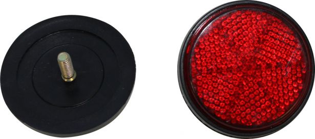 Reflector - Red with Black Base, A-Grade (2pcs)