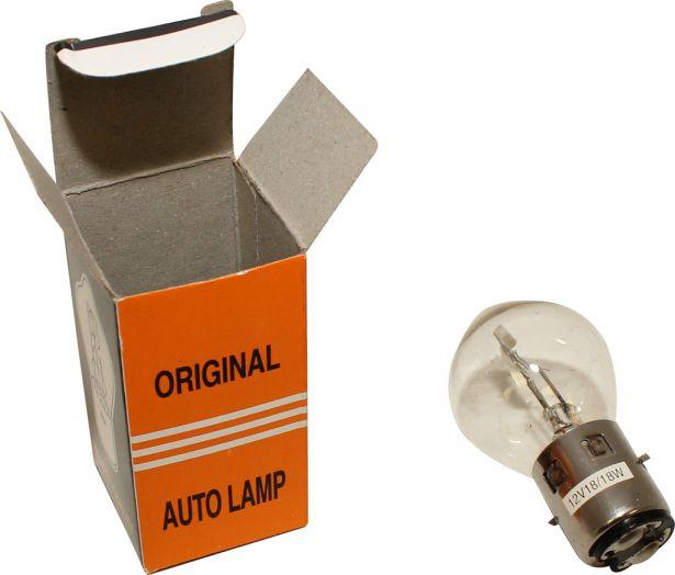 Light Bulb - 12V 18W, Dual Contact (Ba20d)