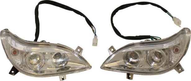Front Light - 50cc to 250cc ATV, Utility Style, Set (2pcs)