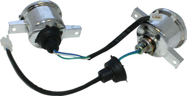 Front Light - 50cc to 250cc ATV, Utility Style, Set (2pcs)