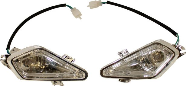 Front Light - 50cc to 250cc ATV, Racing Style, Set (2pcs)