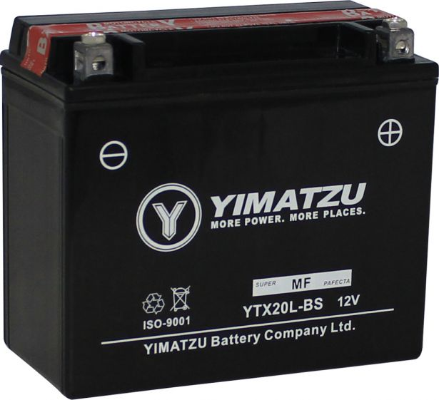 Battery - GTX20L-BS Yimatzu, AGM, Maintenance Free