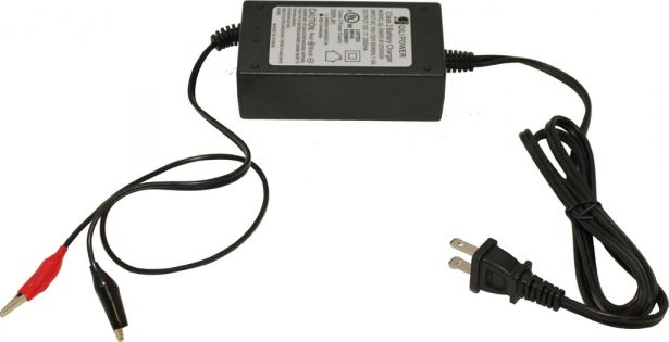 Charger - 12V, 2A, Alligator Clips, Trickle Charger