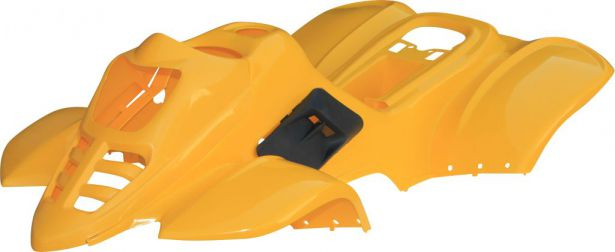 Plastic Set - 50cc to 125cc, ATV, Yellow, Racing Style