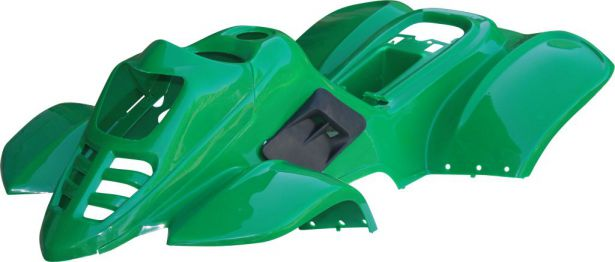 Plastic Set - 50cc to 125cc, ATV, Green, Racing Style