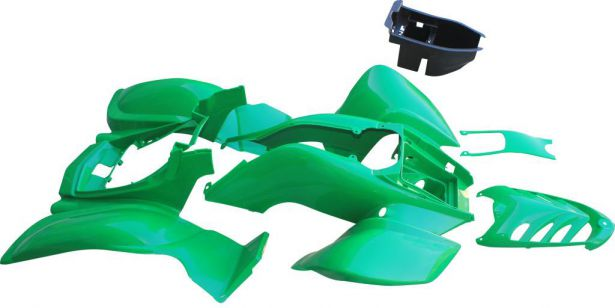 Plastic Set - 50cc to 250cc ATV, Green, Racing Style