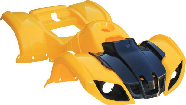 Plastic Set - 50cc to 125cc, ATV, Yellow, Utility Style