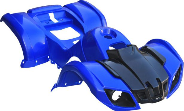 Plastic Set - 50cc to 125cc ATV, Blue, Utility Style
