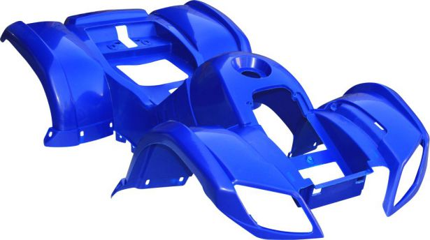 Plastic Set - 50cc to 125cc ATV, Blue, Utility Style - Multi