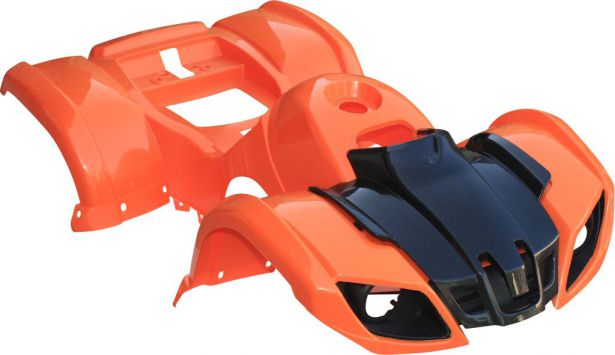 Plastic Set - 50cc to 125cc ATV, Orange, Utility Style