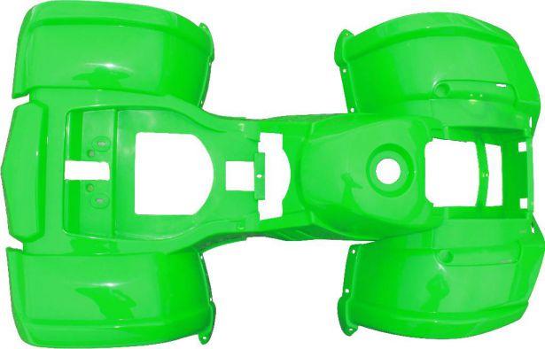 Plastic Set - 50cc to 125cc ATV, Green, Utility Style