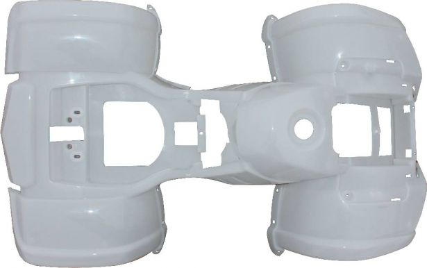 Plastic Set - 50cc to 125cc ATV, White, Utility Style