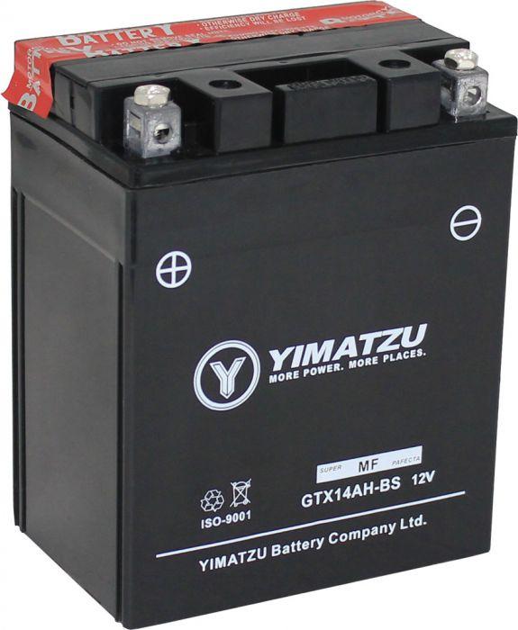 Battery - GTX14AH-BS Yimatzu, AGM, Maintenance Free