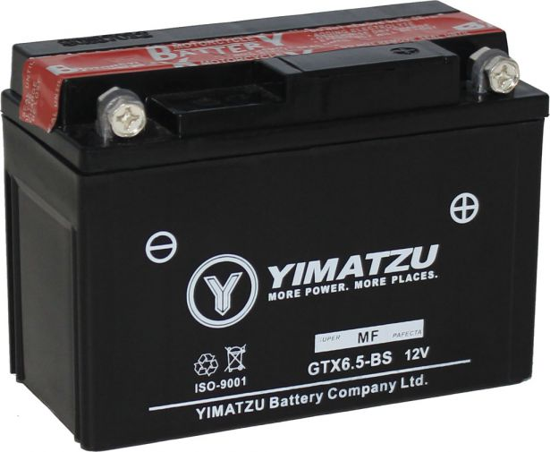 Battery - GTX6.5L-BS Yimatzu, AGM, Maintenance Free