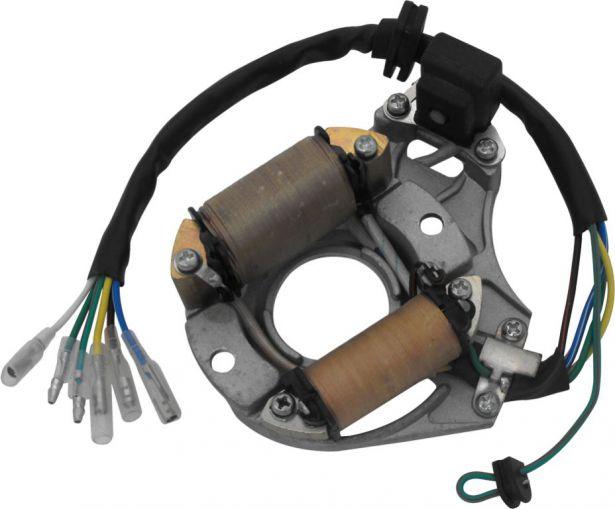 Stator - Magneto Coil, 50cc to 125cc, 6 Wire