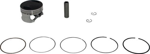 Piston and Ring Set - 155cc to 160cc, 60mm, 13mm (9pcs)