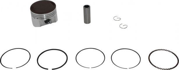 Piston and Ring Set - 150cc, 56mm, 15mm (9pcs)