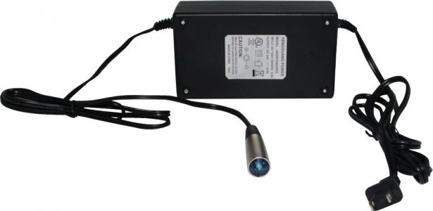 Charger - 24V, 4A, 3-Pin XLR Plug (Male DIN)