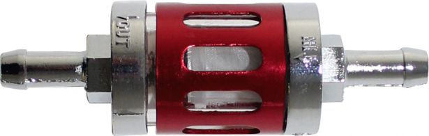 Fuel Filter - Posh Racing, Silver/Red