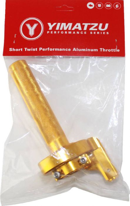 Throttle Lever - Twist Grip, CNC, 90cc to 250cc, Dirt Bike, Yimatzu Brand, Gold