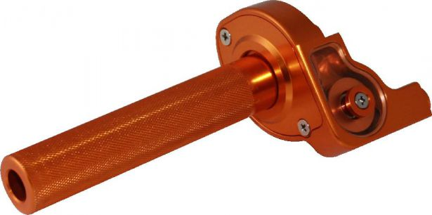 Throttle Lever - Twist Grip, CNC, 90cc to 250cc, Dirt Bike, Yimatzu Brand, Orange