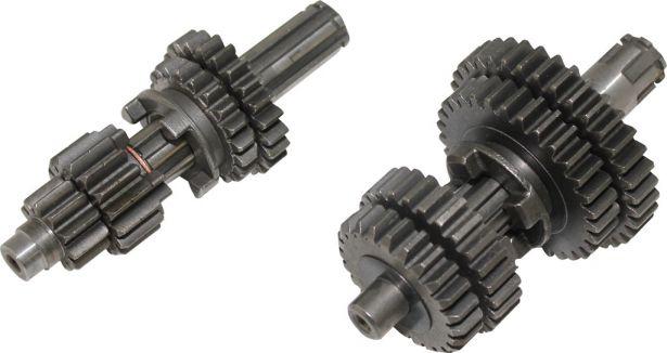 Gear Set - Manual, Electric Start, 50cc to 110cc, 0-1-2-3-4