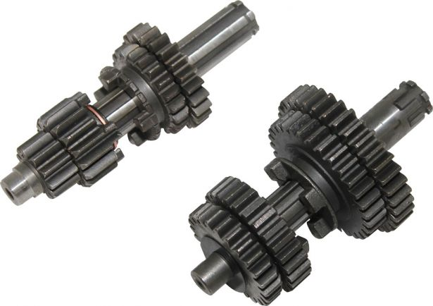 Gear Set - Manual, Kick Start, 50cc to 110cc, 1-0-2-3-4