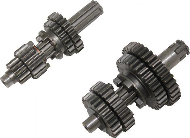 Gear Set - Manual, Electric Start, 125cc, 0-1-2-3-4