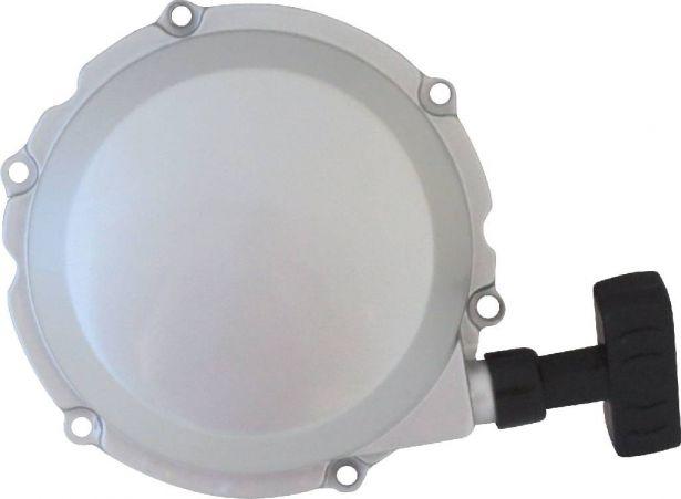 Pull Start - Jianshe, 400cc, Chrome/Silver