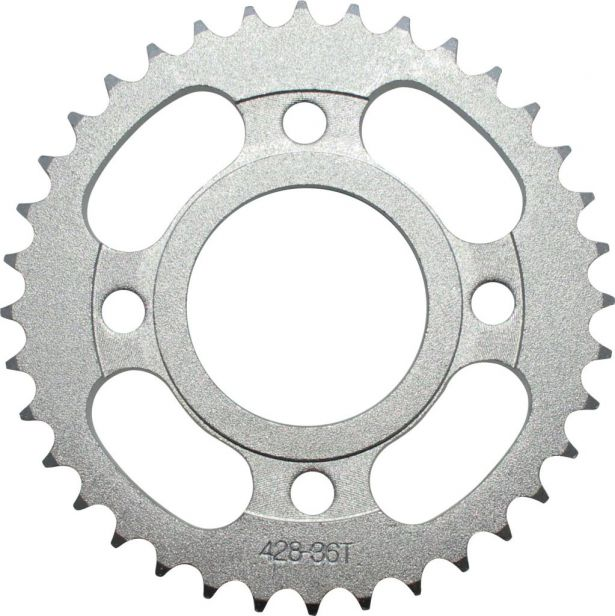 Sprocket - Rear, 428 Chain, 36 Tooth