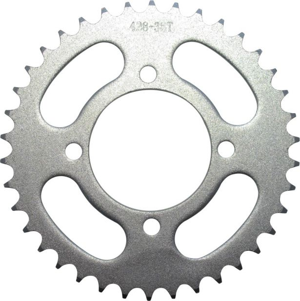 Sprocket - Rear, 428 Chain, 38 Tooth