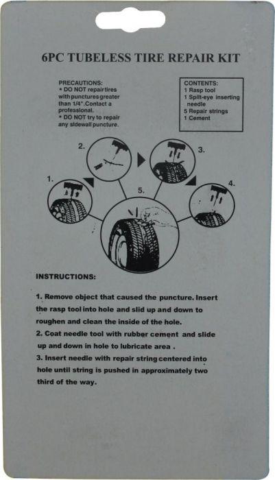 Tire Repair Tool Kit - 4pc