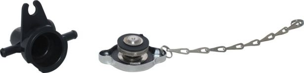 Radiator Cap and Spout  Assembly - XY500UE, XY600UE, Chironex