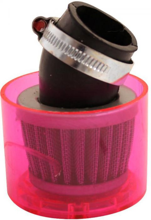 Air Filter - 35mm, Conical, Waterproof, Angled, Yimatzu Brand, Red