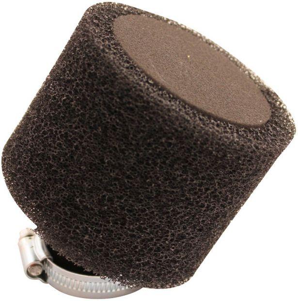 Air Filter - 35mm, Sponge, Angled, Yimatzu Brand, Black