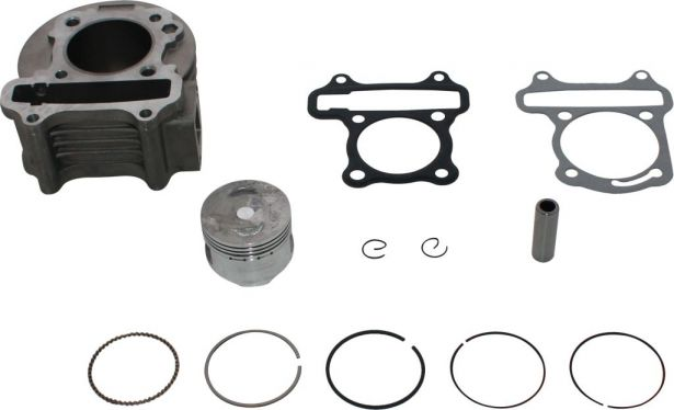 Cylinder Block Assembly - Big Bore, GY6, 50cc to 110cc,  50mm, 12pc