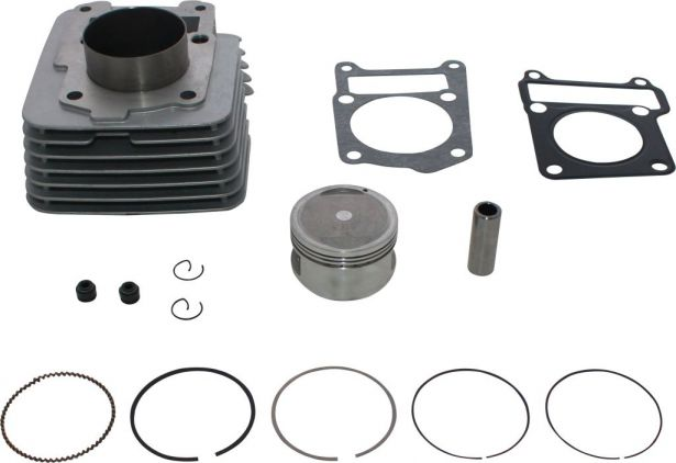 Cylinder Block Assembly - Big Bore, YBR, 125cc to 150cc, 58mm, 14pc