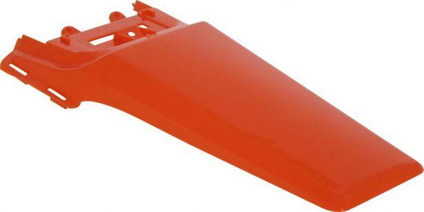 Fender - Rear, Plastic, 50cc to150cc, Dirt Bike, Orange (1 pc)