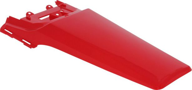 Fender - Rear, Plastic, 50cc to150cc, Dirt Bike, Red (1 pc)