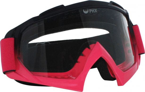 PHX GPro Adult Goggles - Gloss Black/Pink