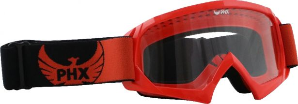 PHX GPro Youth X Goggles - Gloss Red